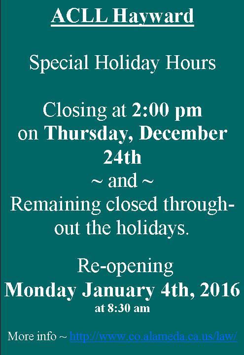 hayward_holiday_closing