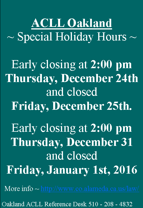 Oakland_holiday_closings