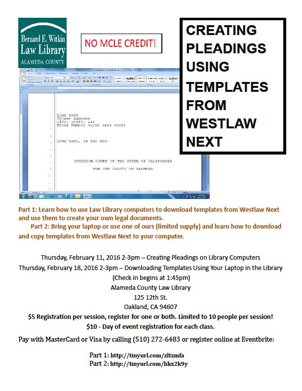 classes at acll  u2013 creating pleadings  u0026 using templates