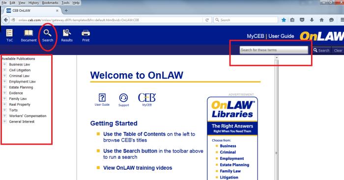 onlaw_database_homescreen