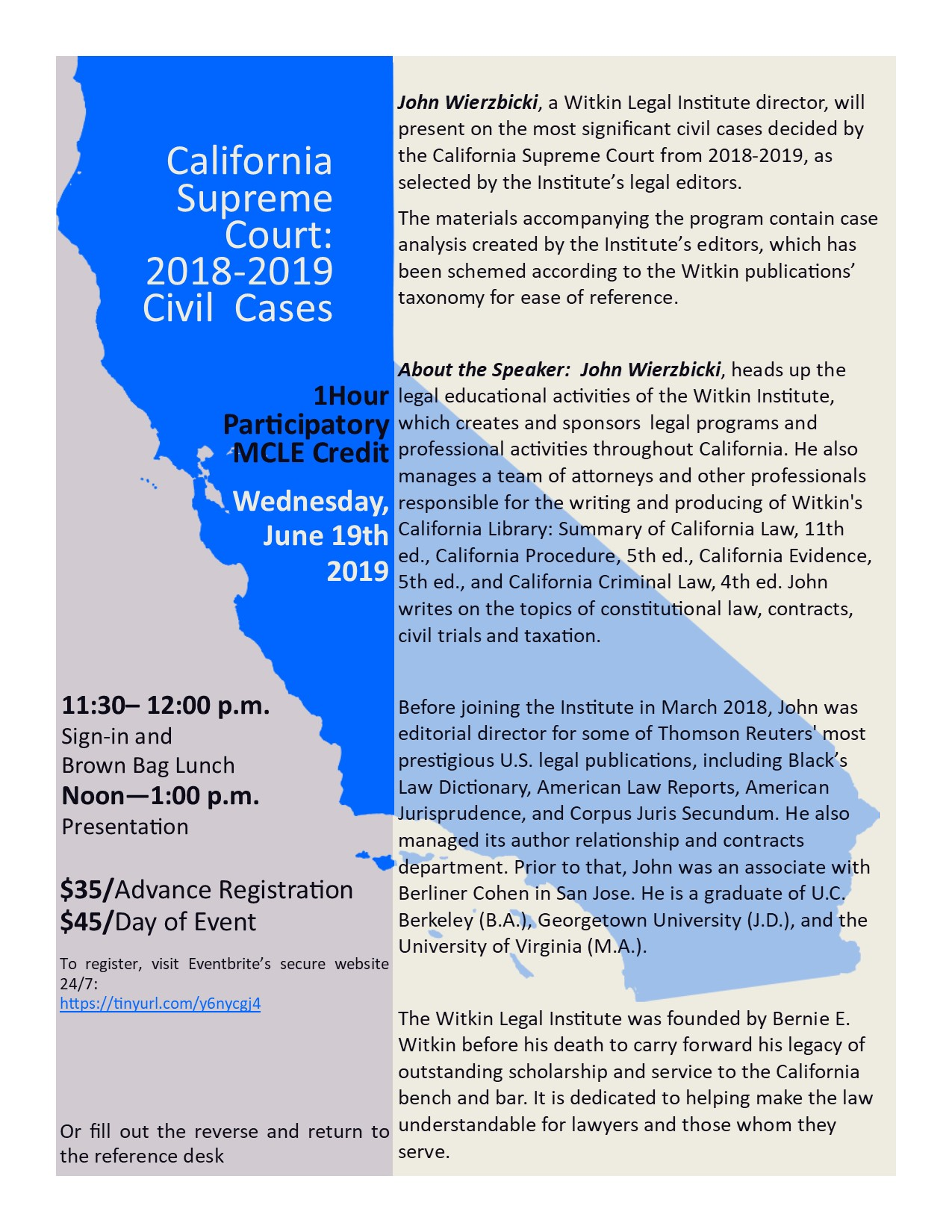 MCLE – Next Week, Wednesday June 19 – CA Supreme Court 2018